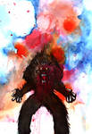 Drawlloween Werewolf by sp3ktr