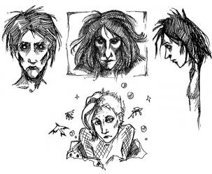Sandman sketches by caffea