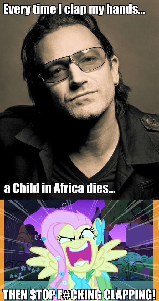 Boredom - Bono Angers Fluttershy by Rachidna