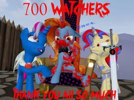 700+ Watchers by Rachidile