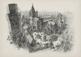 Medieval Landscape Concept by soulfinder90