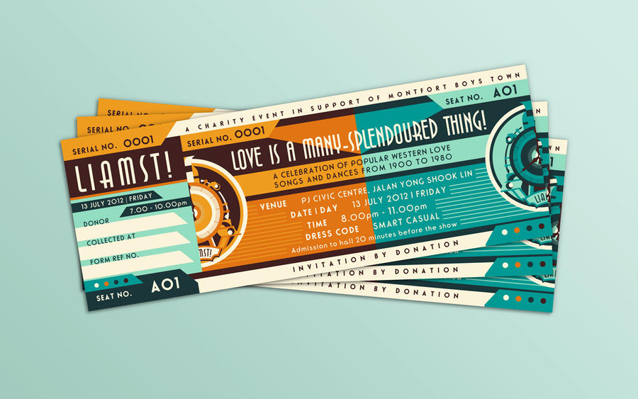 Love Has A ManySplendoured Thing Ticket Design by soulfinder90 – Ticket Design