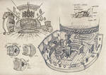 The Pirate Band - Ship Interior Sketches