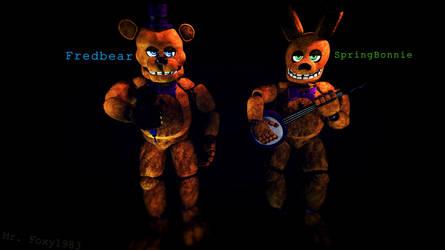 [SFM/FNAF/Poster] Fredbear and SpringBonnie