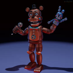 Retro Freddy Fazbear and Bon-Bon Model