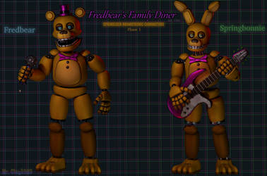 [Blender/FNAF] The Phase 1 Springlocks