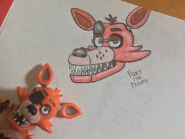 [Drawing/FNAF] -Random Foxy Head Thing-