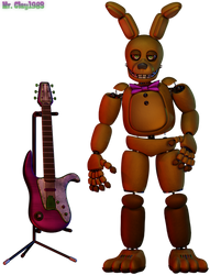 [Blender/FNAF] - SpringBonnie - (and his guitar)