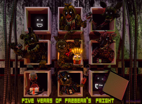 [SFM/FNAF] FNAF 3 5th Anniversary Poster