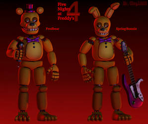 [Blender/FNAF] Finalized Springlocks Showcase
