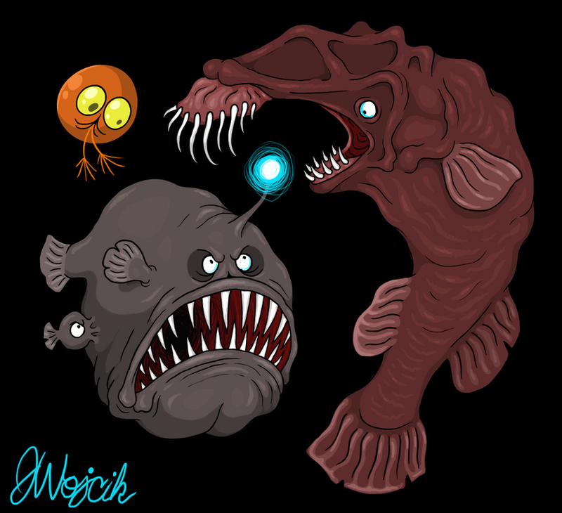 Wolf Trap Anglerfish Abyss Dwellers by scyt...