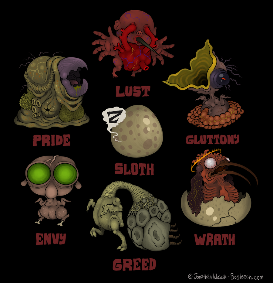 Seven Deadly Sins By Scythemantis On Deviantart