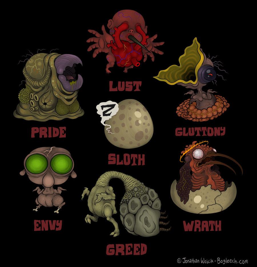 Seven deadly sins by scythemantis