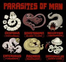 Parasites of Man by scythemantis