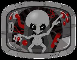 Alien Pilot shirt design by scythemantis