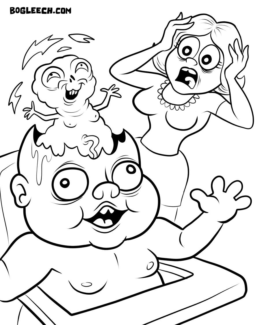 weird coloring pages - photo#19