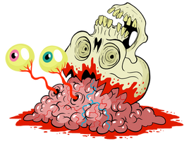 Oozing Skull by scythemantis
