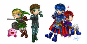Nintendo Chibis by kaiser-mony