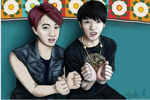 Jin and Jungkook by Tea-ah