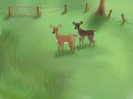 Deers by Tea-ah
