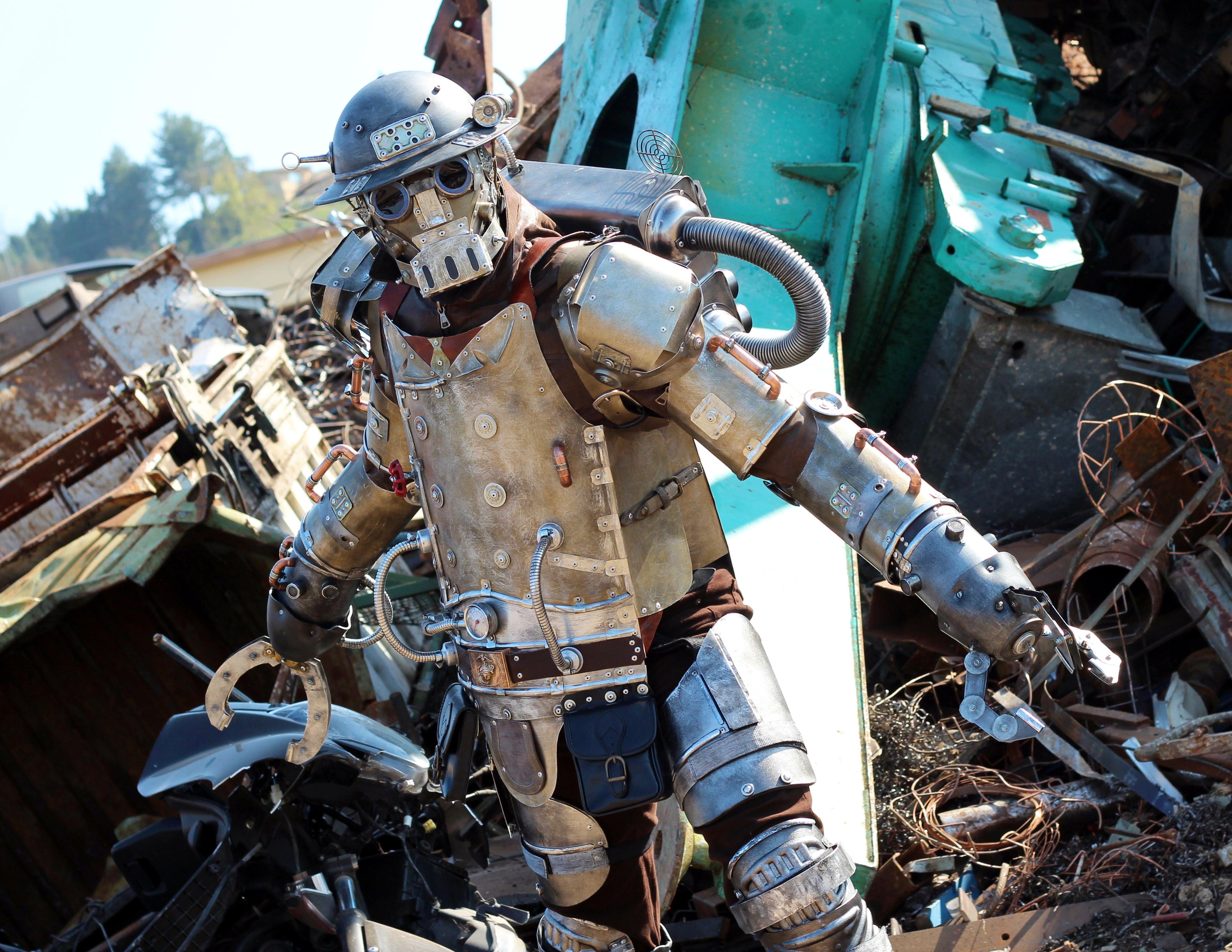 Steampunk Mechanical Soldier Mk I (3) by Zilochius