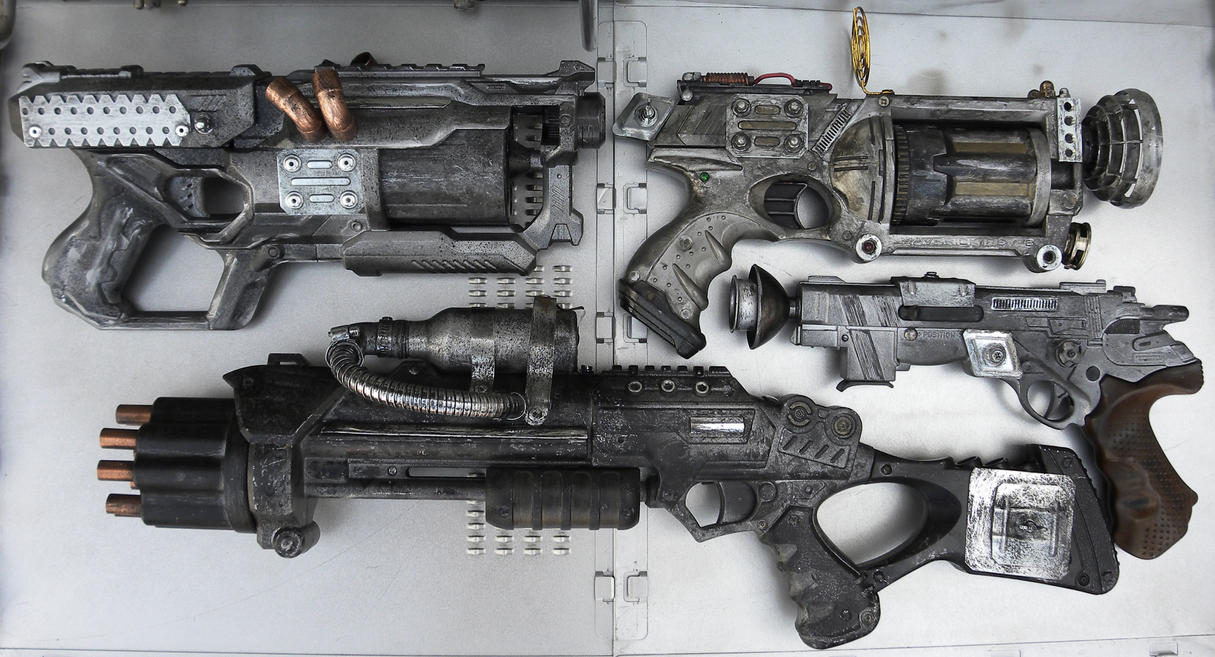 dieselpunk guns by zilochius on deviantart