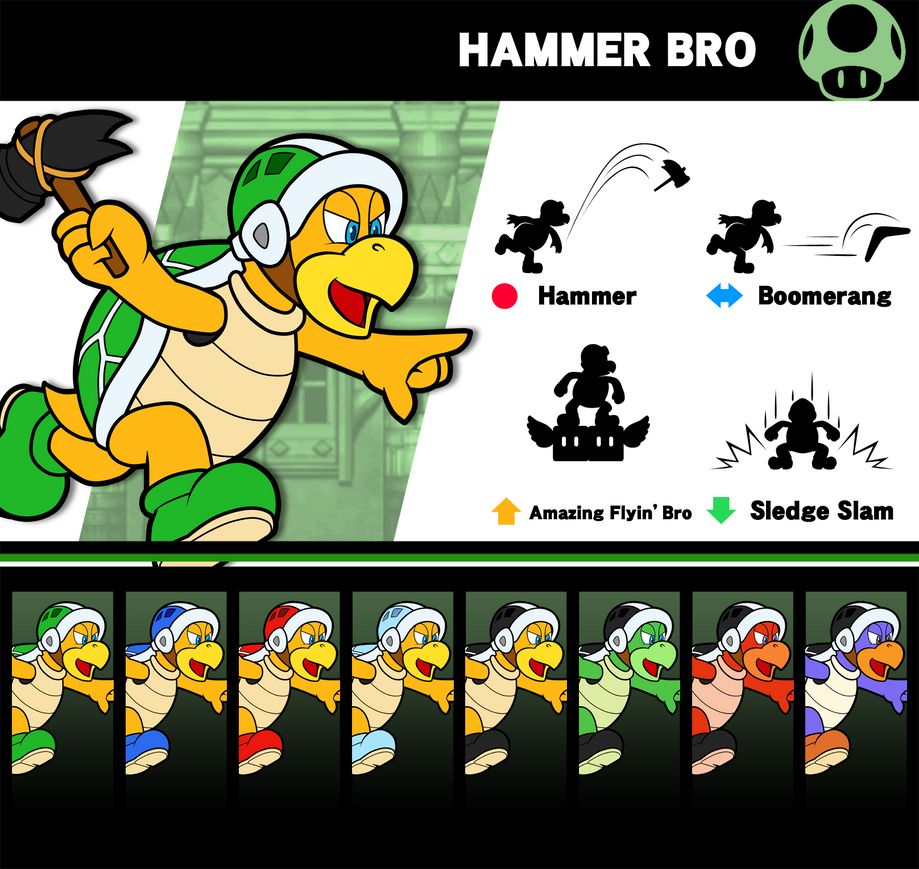 Super Smash Bros Hammer Bro By P Fritz On Deviantart