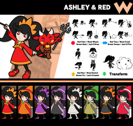 Super Smash Bros. Ashley and Red