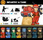 Super Smash Bros. Infantry and Tank by P-Fritz