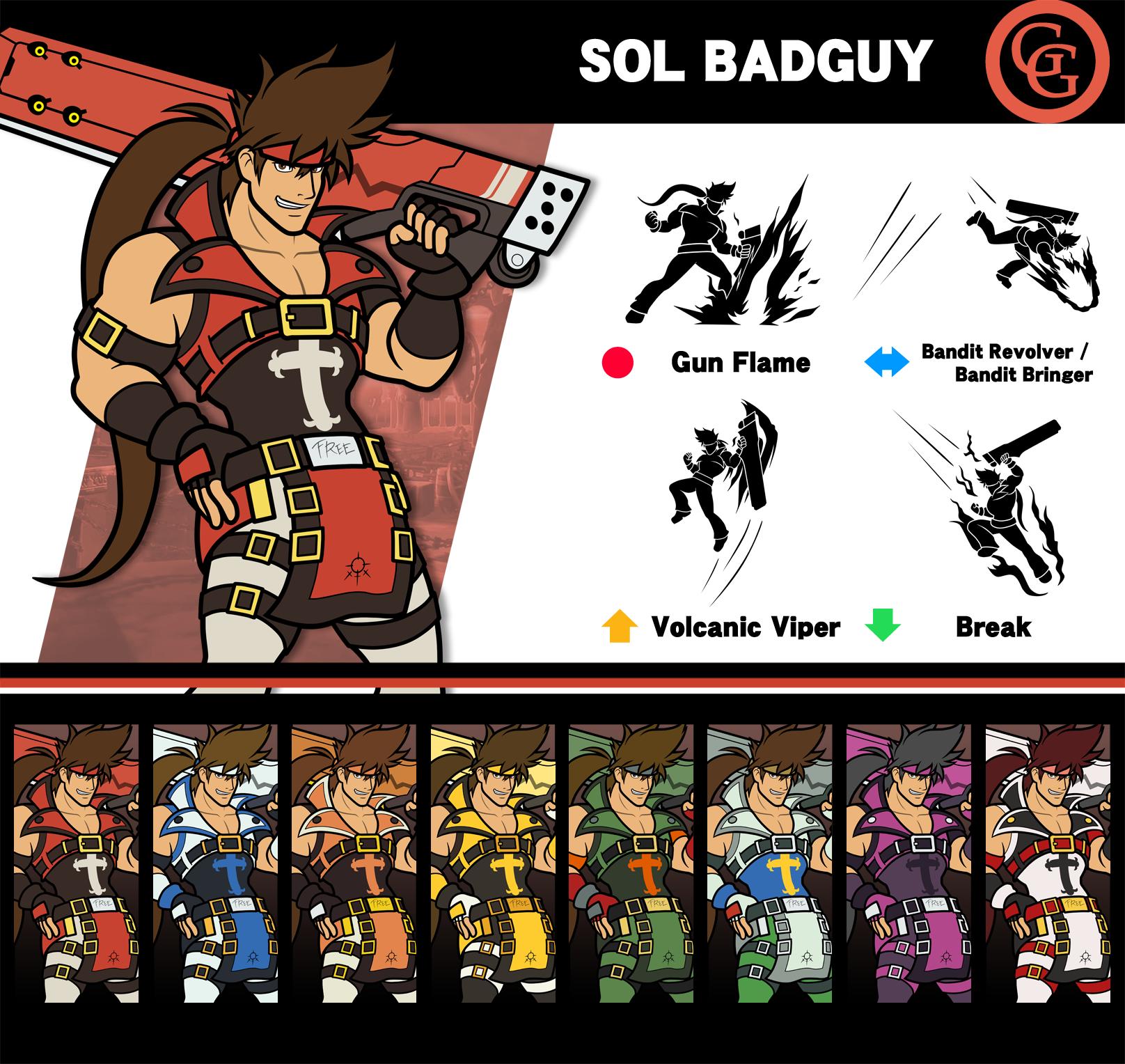 Super Smash Bros. Sol Badguy by P-Fritz on DeviantArt