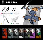 Super Smash Bros. Gray Fox by P-Fritz