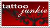 Tattoo-junkie Stamp