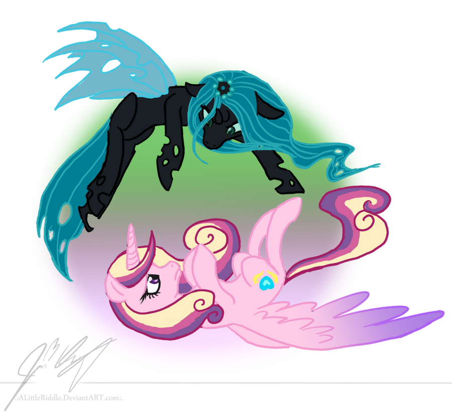 .:Queen Chrysalis and Princess Cadance:. by ALittleRiddle ... Queen Chrysalis X Princess Cadence