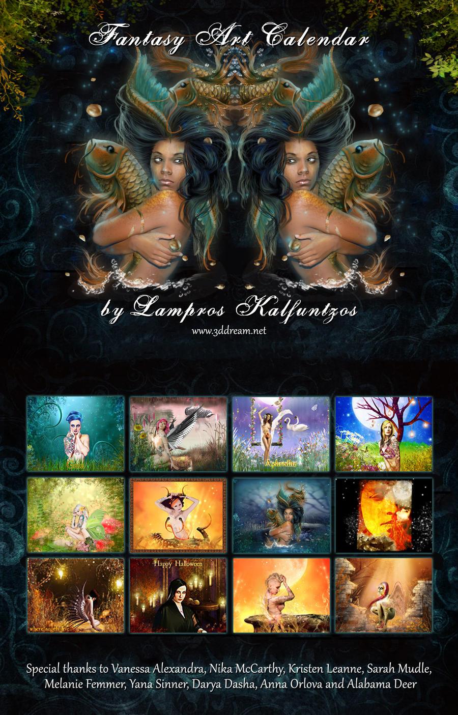 Deviantart Calendar : Fantasy art calendar by ddream on deviantart