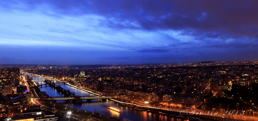 Paris night time cityscape by art tin on deviantart for Paris night time