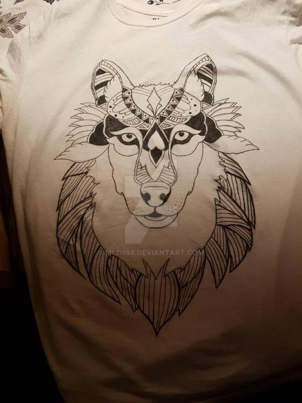 Mandala wolf by mli1988