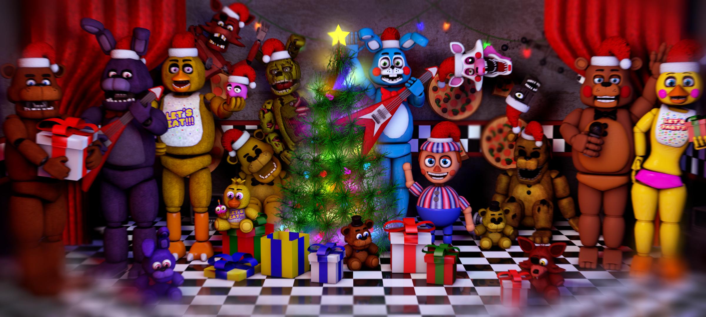Fnaf Christmas.Sfm Fnaf Merry F Luchainstitute