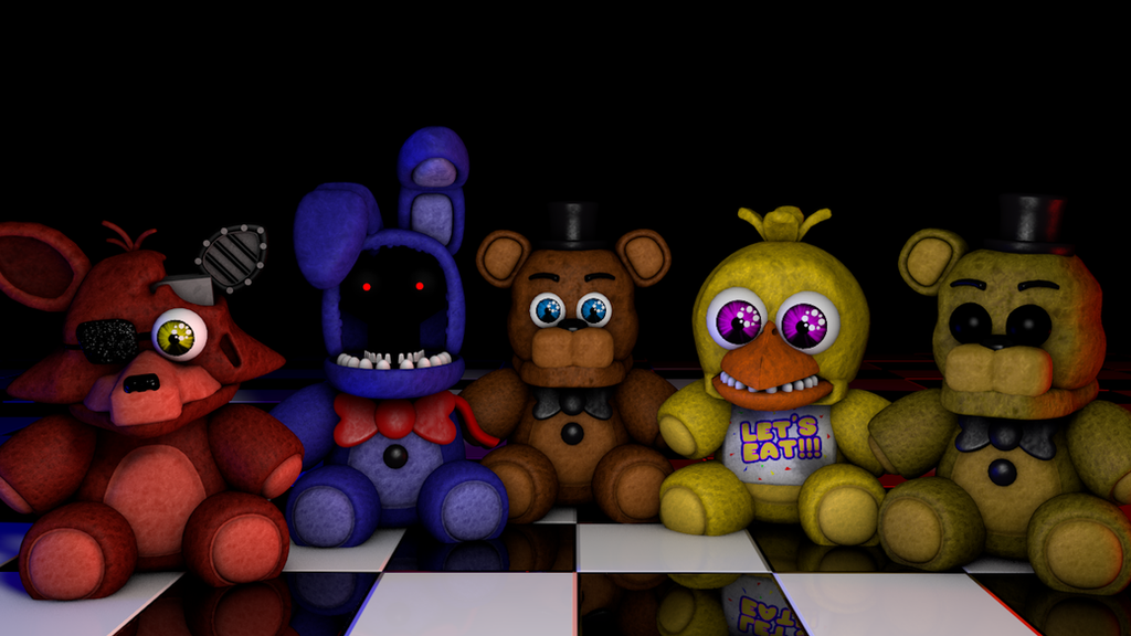 C4d withered plushies by gabocoart on deviantart
