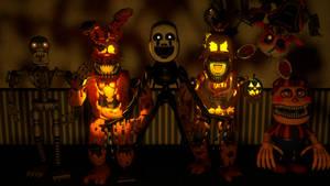 Cinema4D FNaF4 Halloween Pack! [coming soon] by GaboCOart