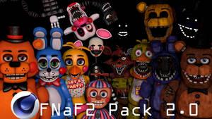 Cinema4D FNaF2 V2 Pack Release by GaboCOart