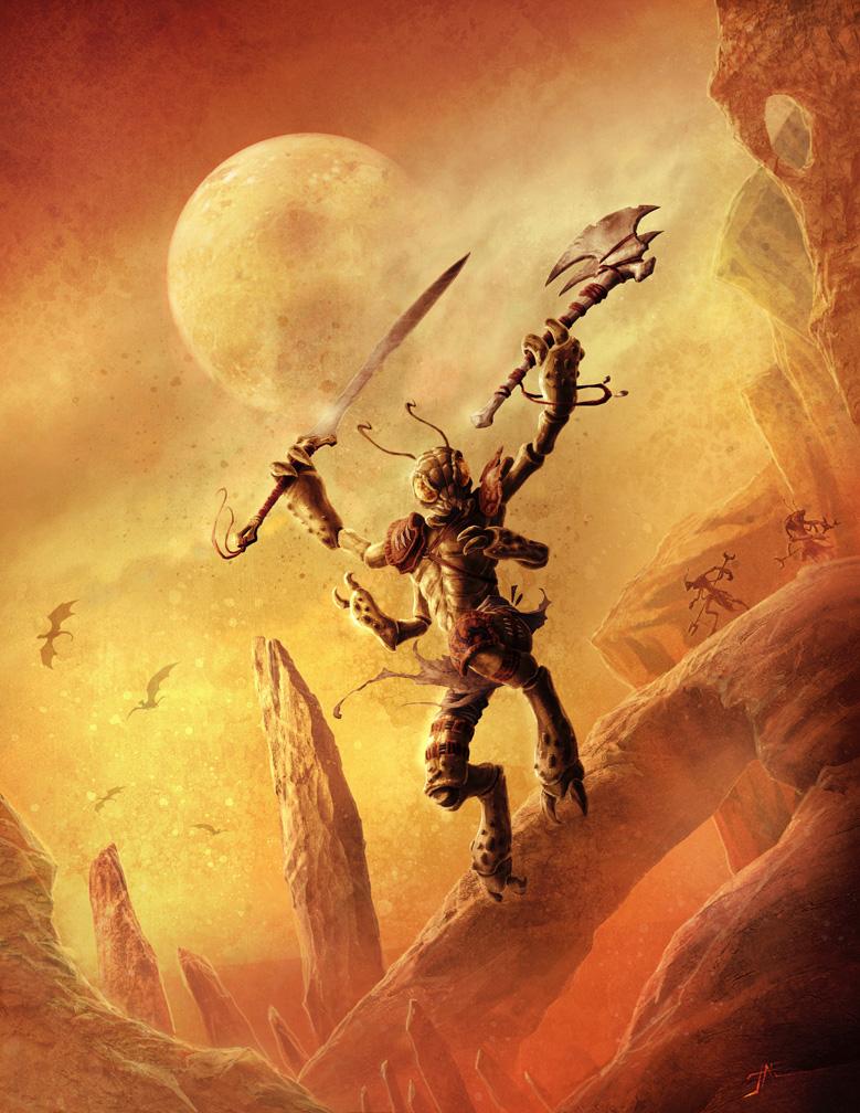 Thri-Kreen Predator by JasonEngle
