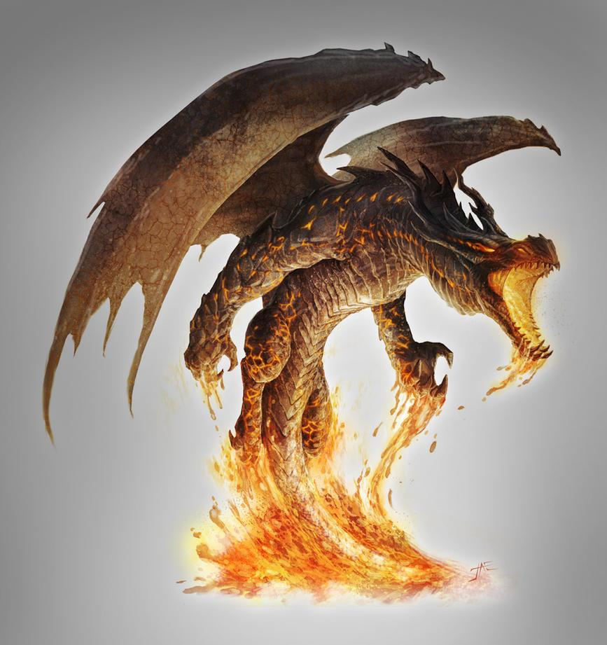 Magma Dragon unleashed by JasonEngle