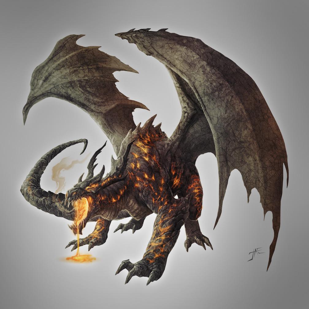 Magma Dragon, Ancient by JasonEngle on DeviantArt
