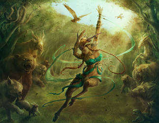 Satyr Grovedancer by JasonEngle