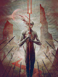 Gadreel, the Angel of war (alternate art) by JasonEngle