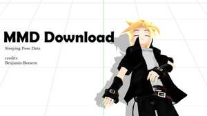 [MMD Download] Sleeping Pose Data by BenjaminRomero
