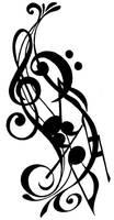 Musical Tattoo Design