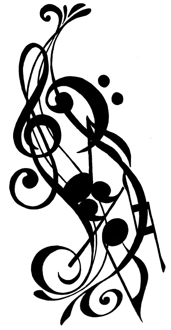 Musical Tattoo Design