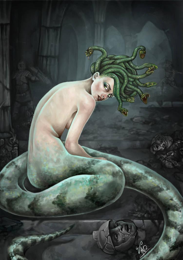 Medusa melancolica by azparren-victoria