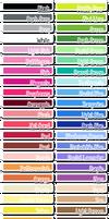 Colour Palettes - Perler by PaperJax